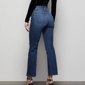 Good American Good Straight Jean High Rise Blue358